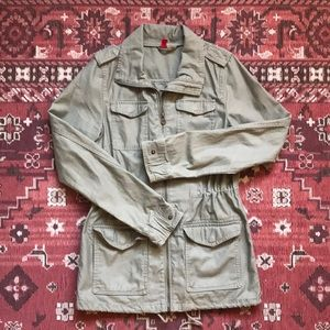 H&M olive green army jacket size small